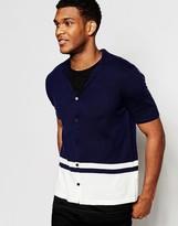 Asos Button Through Knitted Cardigan in Merino Wool Mix