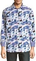 Robert Graham Men's Chanute Print Cotton Shirt
