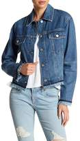 Rag & Bone Oversized Denim Raw Hem Jacket