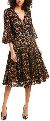 Michael Kors Collection Silk-Lined Midi Dress