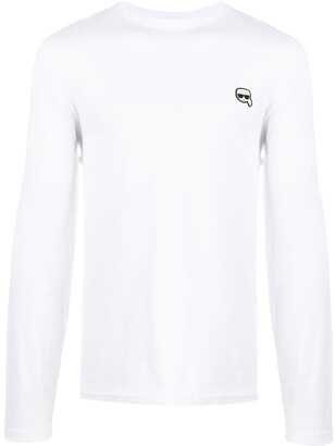 Karl Lagerfeld Paris Ikonik patch cotton T-shirt