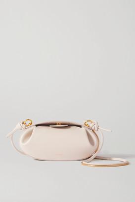 Yuzefi Dinner Roll Leather Shoulder Bag
