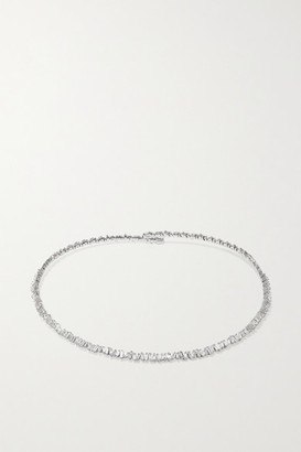 Suzanne Kalan 18-karat White Gold Diamond Collar - one size