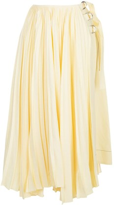 Proenza Schouler Asymmetric Pleated Side Buckle Skirt