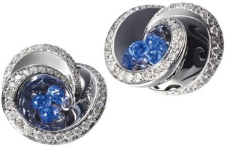 de Grisogono Chiocciolina 18K White Gold, Sapphire & Icy Diamond Earrings