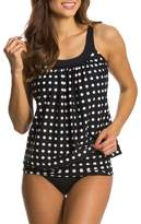 Fanvans Women Two piece Swimwear Tankini Sets Swimsuit Top+Bottom M