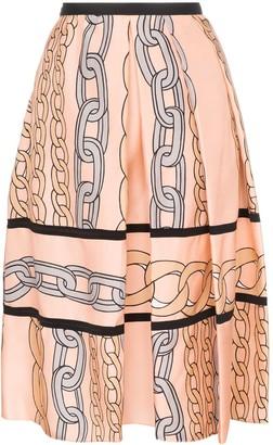 Marni Chain Print Midi Skirt