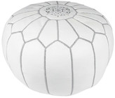 Bungalow Rose Embroidered Pouf Ottoman