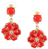 Anna & Ava Stacked Flower Drop Earrings