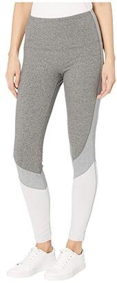 Lysse Oliva Cotton Spandex Color-Block Leggings (Grey Combo) Women's Casual Pants
