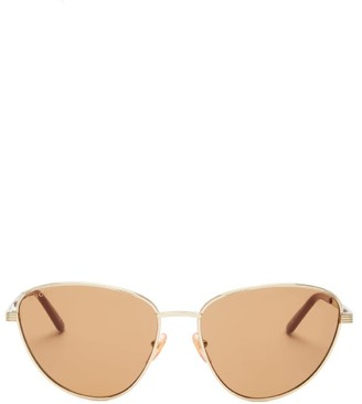 Gucci Cat-eye Metal Sunglasses - Gold