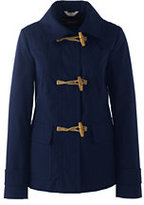 Lands' End Women's Cotton Duffle Jacket-Deep Sea