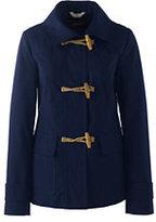 Lands' End Women's Cotton Duffle Jacket-Warm Khaki
