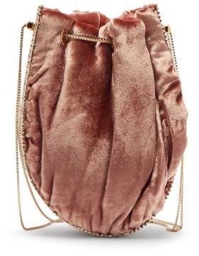 Rosantica Istanbul Crystal-embellished Velvet Shoulder Bag - Pink Multi