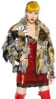 Ashish Faux Fur Patchwork Jacekt