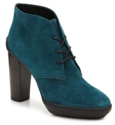 Tod's Final Sale Suede Lace-Up Bootie