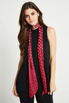 BCBGeneration Dotted Skinny Scarf - Wineberry