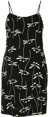 Chanel Pre Owned 1998 Dragon Fly Print Dress