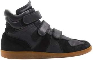 Maison Margiela Black Leather Trainers