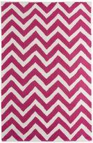 Glenna Jean Millie 2-Foot 8-Inch x 4-Foot 8-Inch Chevron Rug in Pink/White