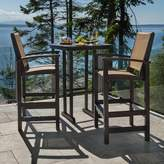 Polywood 3-piece Coastal Outdoor Bar Chair & Table Set