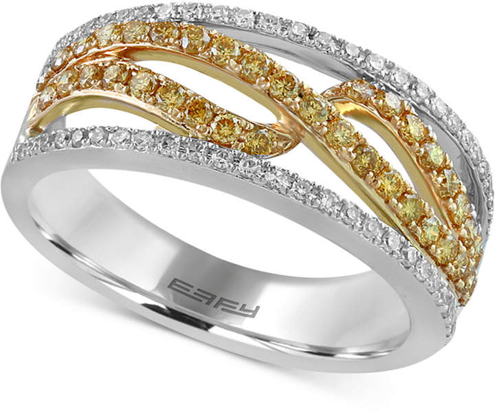 Effy Diamond Two-Tone Ring (5/8 ct. t.w.) in 14k Gold & White Gold