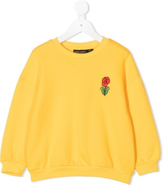 Mini Rodini Flower Embroidered Sweatshirt