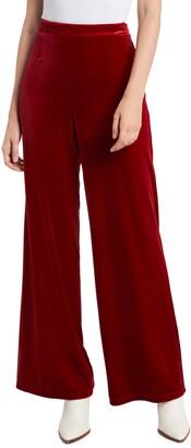 1 STATE Velvet Wide Leg Pants