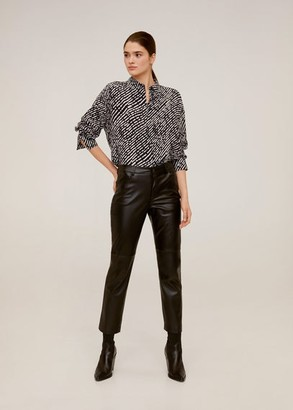 MANGO Flowy printed blouse black - 2 - Women