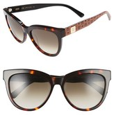 MCM Women's 56Mm Retro Sunglasses - Black Visetos