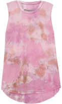 Raquel Allegra Tie-dyed Silk-georgette Tank - Fuchsia