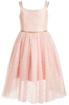 Bonnie Jean Little Girls Metallic Ballerina Midi Dress