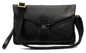 "Christopher Kon PL01255"" Black Leather Handbag"