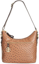 Giani Bernini Ostrich Printed Hobo, Only at Macy's
