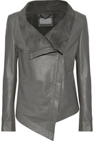 Muu Baa Muubaa Suede-Lined Leather Biker Jacket