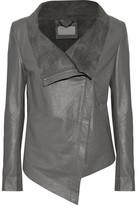 Muu Baa Muubaa Suede-Lined Leather Biker Jacket