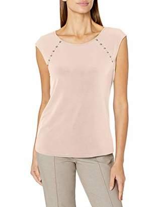 Calvin Klein Women's Sleeveless TOP with Pearl Detail