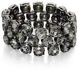 Fiorelli Costume B4703, Gunmetal Black Diamond Crystal Stretch Bracelet