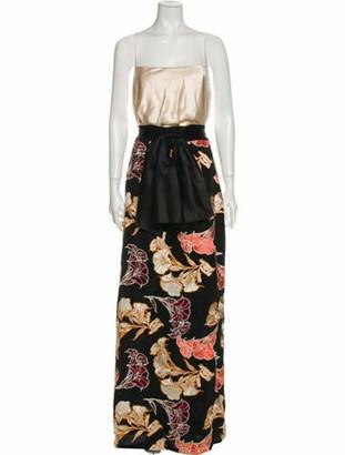 Johanna Ortiz Silk Long Dress w/ Tags Black