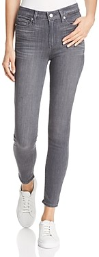 Paige Hoxton High-Rise Ankle Skinny Jeans in Gray Peaks