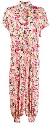 Stella McCartney Floral Print Short-Sleeve Jumpsuit