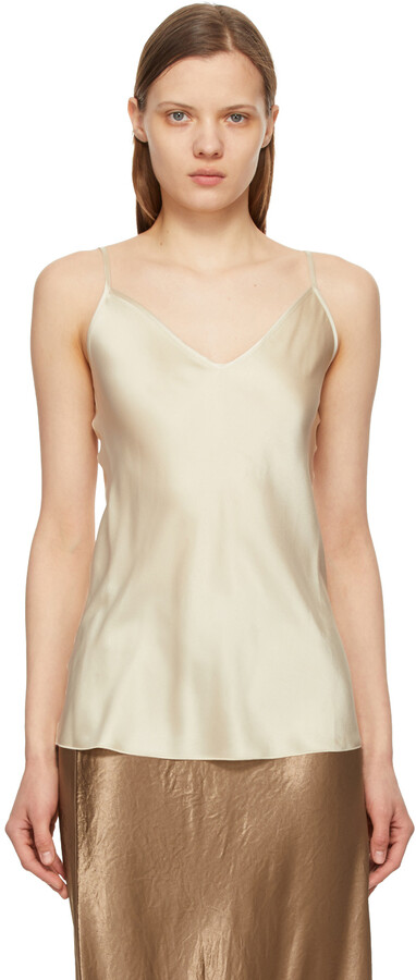 Thumbnail for your product : MAX MARA LEISURE Taupe Silk Luca Tank Top