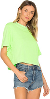 Cotton Citizen The Tokyo Crop Tee in Green. - size L (also in XS)