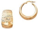 Lord & Taylor 14K Italian Gold Hoop Earrings- 0.93in