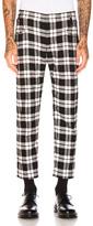 Haider Ackermann Herringbone Trousers in White,Black,Checkered & Plaid.