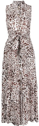Pinko Leopard-Print Mid-Length Dress