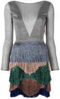 Missoni sheer panel fringed dress