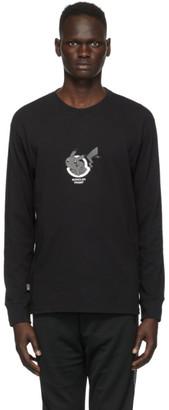 MONCLER GENIUS 7 Moncler Fragment Hiroshi Fujiwara Black Pokemon Edition Logo Long Sleeve T-Shirt