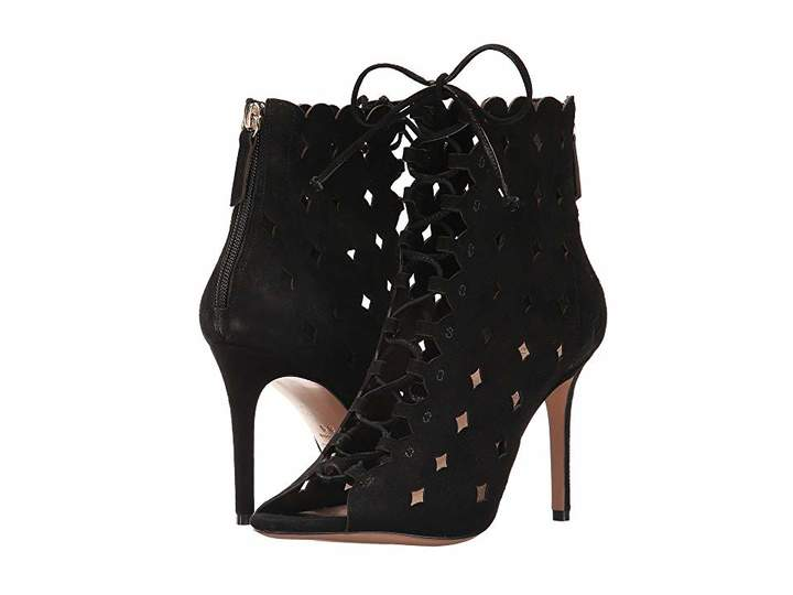 Rachel Zoe Ashlyn Peep-Toe Bootie Women's Dress Lace-up Boots