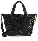MZ Wallace Large Sutton Quilted Lacquer Nylon Duffle Bag